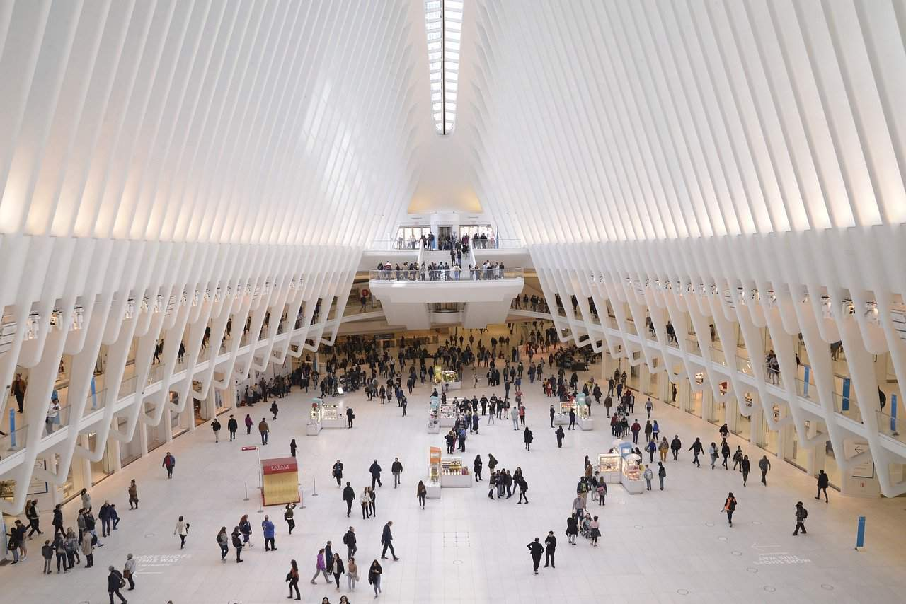 world trade center, building, people
